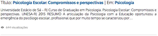Psicologia Escolar: Compromissos e perspectivas | Zé Moleza