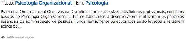 Psicologia Organizacional | Zé Moleza